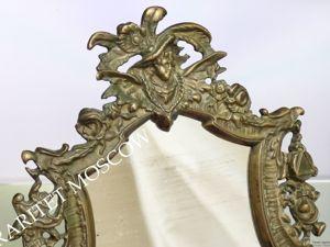 РАРИТЕТИЩЕ Рамка рама зеркало девушка орел бронза 19 век 14. Ярмарка Мастеров - ручная работа, handmade.