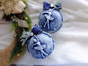 Декорируем елочные шары лепниной. Ярмарка Мастеров - ручная работа, handmade.