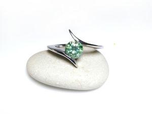 Зеленый бриллиант кольцо видео обзор. Ярмарка Мастеров - ручная работа, handmade.