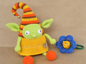 Вяжем крючком игрушку Весенний Эльф. Ярмарка Мастеров - ручная работа, handmade.