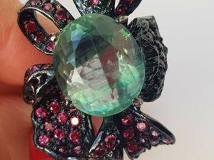 Акция!!! Скидка 20% на шикарное, эксклюзивное кольцо  «Ночное рандеву». Ярмарка Мастеров - ручная работа, handmade.