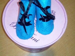 Шьем из фетра ботиночки для игрушек. Ярмарка Мастеров - ручная работа, handmade.
