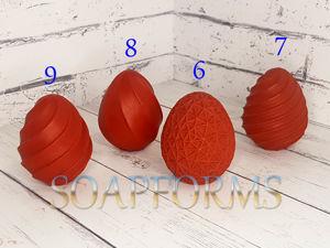 Обновлена карточка товара — Силиконовая форма для мыла и свечей  «Яйцо пасхальное 6,7,8,9». Ярмарка Мастеров - ручная работа, handmade.
