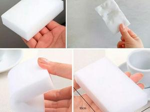 Меламиновая губка: зачем вам это белое чудо?. Ярмарка Мастеров - ручная работа, handmade.