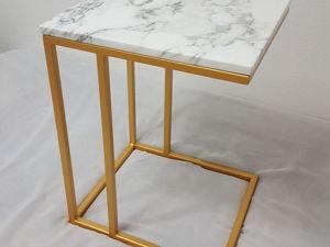 Прикроватный столик из белого мрамора. Ярмарка Мастеров - ручная работа, handmade.