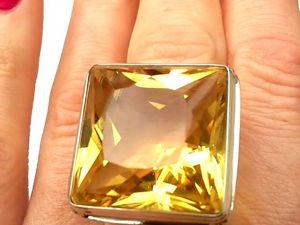 Видео кольца с солнечным цитрином.Авторская огранка камня. Ярмарка Мастеров - ручная работа, handmade.