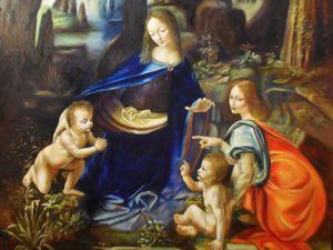 Как создавалась копия картины Леонардо да Винчи    «Мадонна в скалах». Ярмарка Мастеров - ручная работа, handmade.