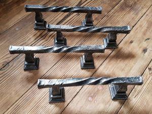 Кованые ручки для двери — комплект на заказ. рабочий процесс. Ярмарка Мастеров - ручная работа, handmade.