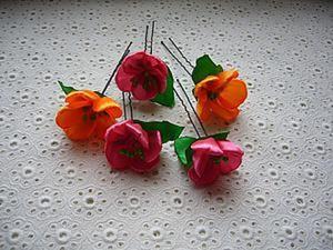 Делаем нежный цветок из атласной ленты. Ярмарка Мастеров - ручная работа, handmade.