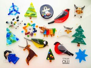 Ёлочные игрушки в нашей мастерской. Ярмарка Мастеров - ручная работа, handmade.