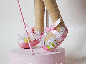 Мастерим туфельки для куклы. Ярмарка Мастеров - ручная работа, handmade.