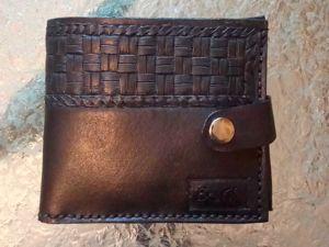 Кожаный мужской кошелек. Ярмарка Мастеров - ручная работа, handmade.