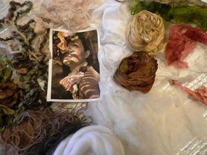 Валяный декоративный зонтик «Вкус осени: ваниль, мята, шоколад». Ярмарка Мастеров - ручная работа, handmade.