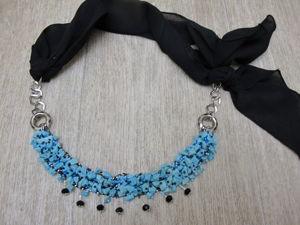 Создаем бирюзовое ожерелье из старых бус. Ярмарка Мастеров - ручная работа, handmade.