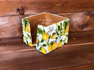 Салфетница  «Лимоны»  для Заиры. Ярмарка Мастеров - ручная работа, handmade.