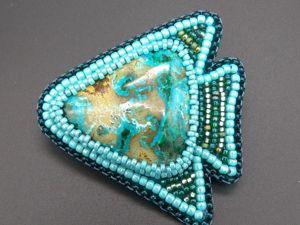 Брошь Рыба моя  «Хризоколла» видео. Ярмарка Мастеров - ручная работа, handmade.