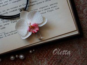 Чокер «Орхидея» из полимерной глины. Ярмарка Мастеров - ручная работа, handmade.