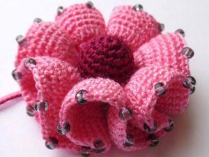 Вяжем цветок с воланами крючком. Ярмарка Мастеров - ручная работа, handmade.