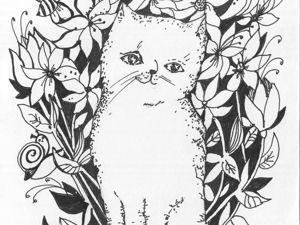 Анекдоты про котов и заказы на их портреты. Такого еще не было!. Ярмарка Мастеров - ручная работа, handmade.