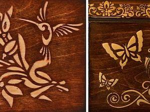 Имитация инкрустации дерева (интарсия). Ярмарка Мастеров - ручная работа, handmade.