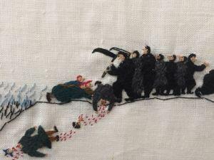 Фрагменты двадцатиметровой вышивки  «История»  художницы-суоми Britta Marakatt-Labba. Ярмарка Мастеров - ручная работа, handmade.