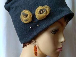 Видеообзор новинки — Трикотажная шапочка с бусинами  «Лэсси». Ярмарка Мастеров - ручная работа, handmade.