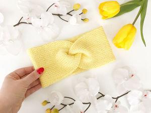 Удобный и быстрый способ вязания двойной повязки. Ярмарка Мастеров - ручная работа, handmade.
