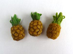 Лепим миниатюрный ананас из полимерной глины. Ярмарка Мастеров - ручная работа, handmade.