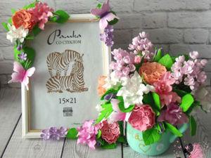 Мастерим подарок маме с цветами ручной работы из фоамирана. Часть 2. Ярмарка Мастеров - ручная работа, handmade.