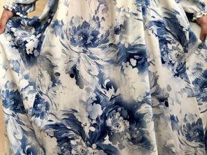 Платье в цветах под гжель. Ярмарка Мастеров - ручная работа, handmade.