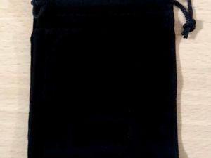 Большое поступление черных бархатных мешочков 9х12 см. Ярмарка Мастеров - ручная работа, handmade.