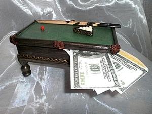 Мастер-класс: необычная купюрница «Бильярд» своими руками. Ярмарка Мастеров - ручная работа, handmade.