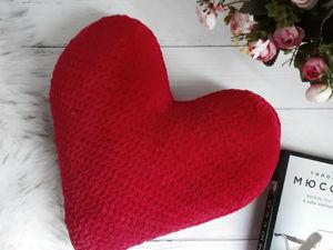 Вяжем плюшевую подушку «Сердце». Ярмарка Мастеров - ручная работа, handmade.