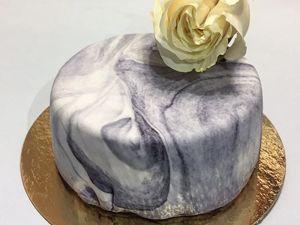 Готовим торт с мраморным покрытием. Ярмарка Мастеров - ручная работа, handmade.