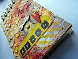 Делаем блокнот на пружине в стиле «mix-media». Ярмарка Мастеров - ручная работа, handmade.