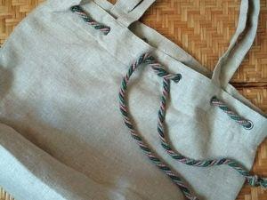 Сумка из льна. Ярмарка Мастеров - ручная работа, handmade.
