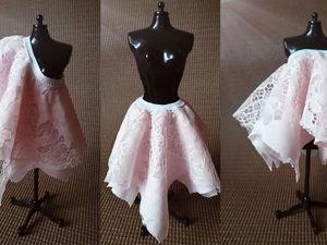 Крой и пошив многослойной юбки. Ярмарка Мастеров - ручная работа, handmade.