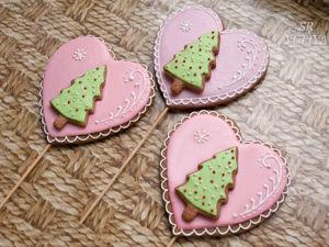 Украшаем новогодний пряник «От всего сердца». Ярмарка Мастеров - ручная работа, handmade.