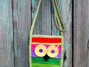 """Шьём из остатков фетра летнюю сумку """"Сова"""". Ярмарка Мастеров - ручная работа, handmade."""