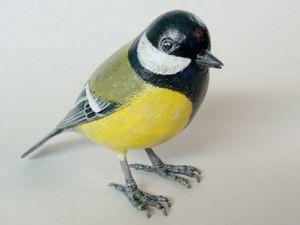 Синичка. Птичка из папье-маше. Ярмарка Мастеров - ручная работа, handmade.
