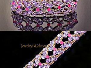 Плетем браслет Бабочки из бисера и биконусов. Ярмарка Мастеров - ручная работа, handmade.