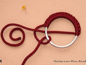 Делаем пряжку из оплетённого кольца в технике макраме. Ярмарка Мастеров - ручная работа, handmade.