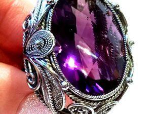 Видео кольца «Amethyst magic» аметист,ювелирный сплав скань ручная работа. Ярмарка Мастеров - ручная работа, handmade.