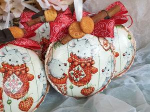 Делаем медальон с мышками и снежной пастой. Ярмарка Мастеров - ручная работа, handmade.