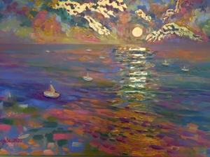 Интерьерная картина «Золотой закат». Ярмарка Мастеров - ручная работа, handmade.