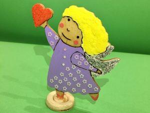 Мастерим ангелочка из фанеры. Ярмарка Мастеров - ручная работа, handmade.