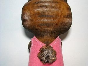 Делаем объемный хвостик для зайки из двунитки. Ярмарка Мастеров - ручная работа, handmade.