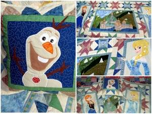 Детское лоскутное покрывало Холодное Сердце — теплое и уютное лоскутное шитье. Техника пэчворк, лоскутные аппликации — яркий акцент детской комнаты!. Ярмарка Мастеров - ручная работа, handmade.