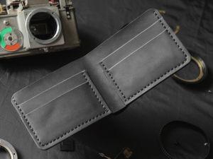 Шьем классический кожаный кошелек. Часть 1. Ярмарка Мастеров - ручная работа, handmade.