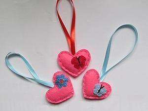 Видео мастер-класс: шьем симпатичное сердечко из фетра. Ярмарка Мастеров - ручная работа, handmade.